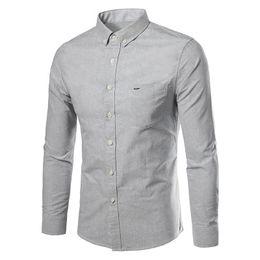 Men sliM dress business shirt online shopping - Korean Business Men Shirts Mens Long Sleeves Dress Shirts Cotton Shirt Men Shirt Plus Size Slim Fit Homme