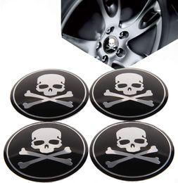 $enCountryForm.capitalKeyWord Canada - 4Pcs lot Universal Aluminum Car Skull Stickers Wheel Center Fits Hub Cap Stickers 5.65cm wheel center emblems for car