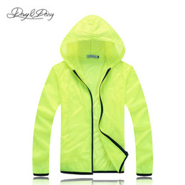 China Fall-Light Sport Coat Hooded Waterproof Sportswear Unisex Solid Jacket Transparent Sunscreen Coat Quick-Drying Windbreaker DCT-012 cheap sports jacket wholesale suppliers