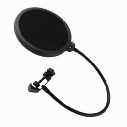 Microphone Pop Filters Canada - Microphone Pop Filter Singing Windscreen Shield Pod Cast Dual Double Layer Mask Anti Mic Metal Studio Pop Filter