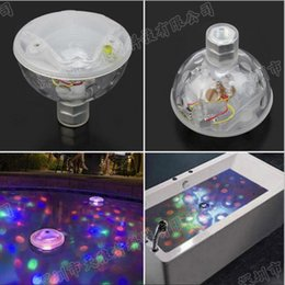 Venta Al Por Mayor Luces De Baño De Spa Baratos-Venta al por mayor- 5 nuevos iluminación Luz de discoteca Luz de discoteca Mostrar Piscina de la charca Luz LED Bañera SPA Bañera Nadar Piscina lámpara Floating ball bulb Child Favor