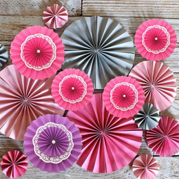 discount purple paper fans | 2017 purple paper fans wholesale on
