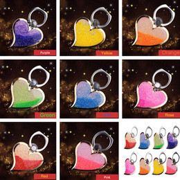 Discount grip cell phone holder - Rotating 360 Liquid Finger Grip Bling Glitter Heart Universal Cell Phone Luxury Ring Hook Holder Stand For iphone 6 7 8