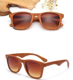 Outlet wOOd online shopping - Factory outlets European and American retro sunglasses trend sunglasses wild wood grain outdoor spectacles sunglasses color free send DHL
