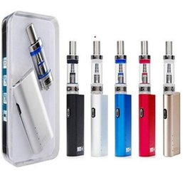 Gold vapor electronic ciGarettes online shopping - E cigarette Lite W Box mod mAh w with ml Glass Tank Electronic cigarette vapor pen starter Mod Kit VS Free DHL