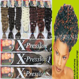 Venta al por mayor de crochet extensión del pelo trenza 165G 82 pulgadas xpression Ultra Braid super Jumbo trenzas sintética trenza extnsion pelo 25 colores disponibles