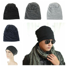 winter knit hats for men 2019 - Fashion Style Unisex Men Knitted Winter Warm Knitted Hats Light Comfortable Sleeve Cap For Women Cap Cotton Skull Blends