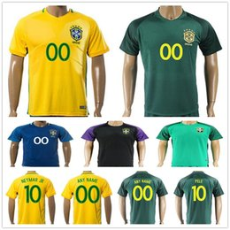 2017 2018 brazil national team football jerseys maillot de foot 10 neymar jr pele ronaldinho 11