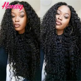 $enCountryForm.capitalKeyWord Canada - Heavy Density Human Hair Wigs 180Density Deep Curly Full Lace Wig Lace Front Wigs For Black Woman Free Shipping