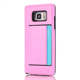 Chinese  TPU Slide Credit Card Holder Wallet Mobile Phone Case Cover With Slot For Samsung Galaxy S3 S4 S5 S6 S6 edge manufacturers