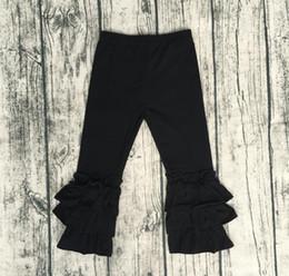 $enCountryForm.capitalKeyWord NZ - Baby Fashion Clothes Online Hot Sale Baby Girl Black Icing Long Pant Children Triple Ruffle Pant Cheap Wholesale