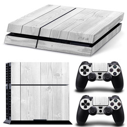 Playstation skins decal online shopping - PS4 Wood Grain Decal Skin Stickers For PlayStation Console Free Controller Stickers size