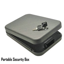Car Safe Boxes Canada - Security key safes portable car safe box handgun valuables money jewelry storage box strongbox 1.2mm cold-rolled steel sheet