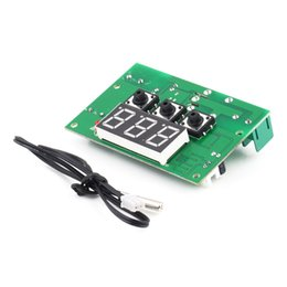 Thermostat Controller Canada - New Arrival 12V 10A Digital LCD Temperature Regulator Controller PCB Board Thermostat Sensor hot selling 2016