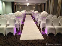 "White Rose Silk Kissing Balls NZ - 16 "" 40 cm Big Size Milk White Fashion Artificial Rose Silk Flower Kissing Balls For Wedding Party Centerpieces Decorations"