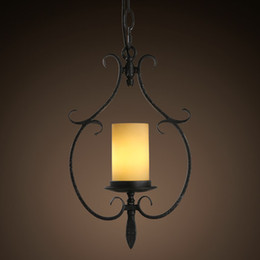 Simple Elegant Chandeliers Canada - KC lamp simple retro fashion beautiful country candle holders between single head iron and elegant chandelier restaurant leisure villa garde