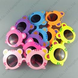 Zoológico Animal Forma Gafas Tiger Niños Gafas de sol Lindo y encantador Bebé Gafas de sol UV400 6 colores