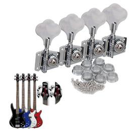 Bass guitar knoBs online shopping - 4PCS Chrome Bass Guitar Machine Heads Knobs Tuners Tuning Pegs Guitar Parts