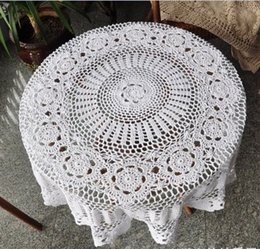 Lovely Hand Crochet Tablecloths, Nice Crochet Table Topper, Round Table  Cover WHITE For Home Wedding Decorative Af017