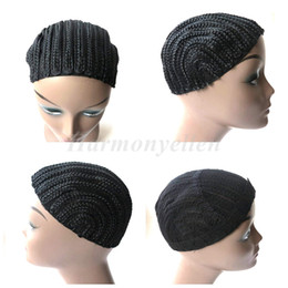 Glueless Wig Braids For Australia - 1pc lot Cornrow Wig Cap For Easier Sew In,Braided Wig Caps Crotchet,Caps for Making Wig,Glueless Hair Net Liner Crochet Wig Caps