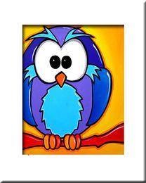 $enCountryForm.capitalKeyWord Canada - Free Shipping 100 Handmade Animal paintings on Canvas Pop Colourful wall Art For wall Decor Modern Abstract Birds oil paints