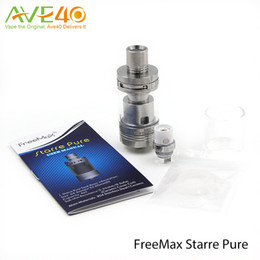 System Ceramics Canada - Freemax Starre Pure 4ml Ceramic Tank First Ceramic Cover Coil Top AFC System Never Leak Design silver Link 100% Original