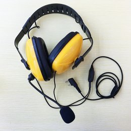 $enCountryForm.capitalKeyWord Canada - Wholesale-Yellow Color Noise canceling with mic K plug 2pins headset headphone for kenwood puxing wouxun baofeng weierwei walkie talkie