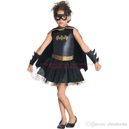 Women Costumes Angels Canada - New Halloween costume Children's Dress set girl black clothes cosplay role Party Dance dress Free DHL FedEx