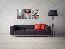 $enCountryForm.capitalKeyWord Canada - Wall Art Canvas Black and White Eiffel Tower with Red Unbrella on Paris Street Painting Romantic Picture Artwork Prints Canvas No Frame
