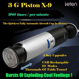 Vente en gros 3G LETEN Piston 0-380Times / Minute Masturbateur Entièrement Automatique Retractable Pour Masturbateur Mâle USB Chargé Utilisation Facile Facile Facile Profitez