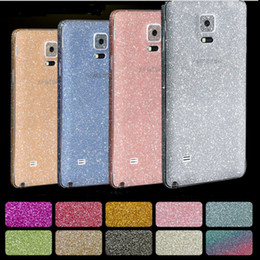 skin sticker galaxy 2019 - 2016 Full Body Glitter bling Screen Protector Sparkle shimmer Film Skin Shinny Sticker Protetors for Samsung Galaxy s4 s