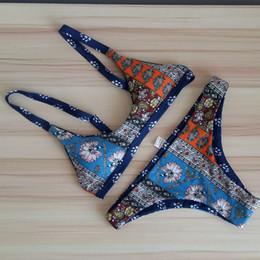 $enCountryForm.capitalKeyWord Canada - Hot Swimwear double floral printing Bikini new Sexy Beach Swimwear Women Swimsuit Bathing Suit Brazilian Bikini Set