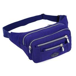 $enCountryForm.capitalKeyWord Canada - Adjustable Waterproof Belt Bum Bag Waist Bag Fanny Packs For Women Nylon Waist Bag Outdoor Sport Money Pocket