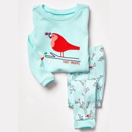Childrens Animal Shirts Canada - New High Quality Autumn Baby Girls Pajamas Sets Sports Suit Long Sleeve T-shirt +Pants Kids Childrens Clothing Sets