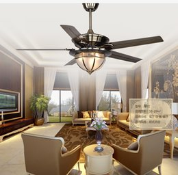 European Antique Iron Leaf Fan Light Minimalism Modern Ceiling Lights Copper Shade Living Room Dining Lamp