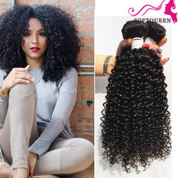 18 inch hair extensions length 2019 - 100% 3pcs Malaysian Human Hair Extensions 4 Bundles Double Weft Kinky Curly Unprocessed Virgin Hair Weave Free shipping