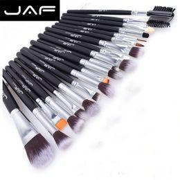 $enCountryForm.capitalKeyWord Australia - Jaf Brand Makeup Brush Set 20Pcs Set Professional Foundation Eye Shadow Blending Cosmetics Make Up Tool Kits 100% Vegan Synthetic Taklon