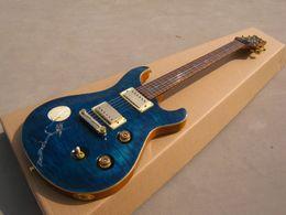 $enCountryForm.capitalKeyWord Canada - OEM Guitar New Arrival RPS electric guitar,blue see thru, body top with bird moon pearl inlay !