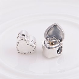 Großhandel Für Pandora BraceletCharms STERLING SILBER GESCHENK AUS DEM HERZEN CHARM DIY Perlen aus massivem 925er Silber Nicht plattiert