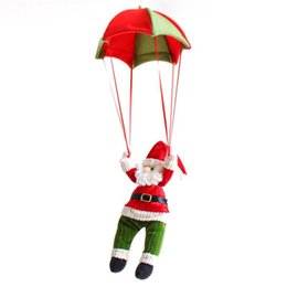 wholesale gifts homes UK - Xmas Home Party Decor Santa Claus Parachute Christmas Tree Ornaments Hanging Christmas Snowman Doll Festival Gift For Kids