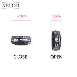 Professional Metal Hair Clips NZ - Neitsi Professional Metal U Shape Snap Clips For DIY Clip In Hair Extensions 2.3cm Black 50pcs lot