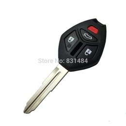 Mitsubishi Replacement Remote UK - 3+1 buttons remote key case shell with right blade for Mitsubishi without logo Replacement car key cover for mitsubishi