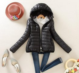 $enCountryForm.capitalKeyWord Canada - Winter Slim Candy-colored Hooded Padded Jacket Female Warm Winter Coat Parkas Ultra Light Down Cotton Overcoat dames jassen