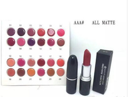 best lipstick names 2019 - FREE SHIPPING Lowest Best-Selling NEW Brand Makeup 24 colors Matte lipstick have English name and number 24 PCS