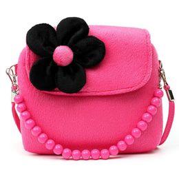 $enCountryForm.capitalKeyWord Canada - Stereoscopic Flowers Plush Messenger Bag Princess Package For Baby Girls Children Kindergarten Handbag Shoulder Bag hot