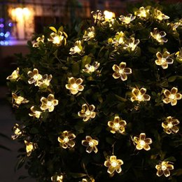$enCountryForm.capitalKeyWord Canada - Solar Powered String Flower Lights 5M 20 LED Waterproof for Outdoor Party,Home Decoration,Wedding,Christmas Holiday Celebration