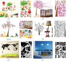 Mélange Ordre Amovible Mur Art Stickers Pépinière Mur Décor 60x90cm Enfants Chambre Stickers Muraux Grand Papier Peint Autocollants