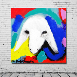 cheap home paintings NZ - Home Decor Lovely Animal Painting Canvas Art Pictures for Bedroom Decoration Hand Painted Cheap Oil Painting Decorative Pictures No Framed