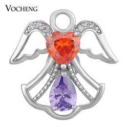 Jewelry stone material online shopping - NOOSA CZ Stone Snap Charms Copper Material Colors Wings mm Luxury Jewelry VOCHENG Vn