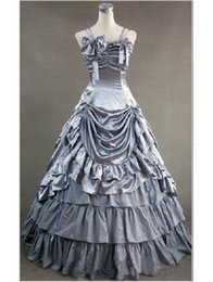 High Quality Silver Spaghetti Strap Victorian Masquerade Party Long Dresses Reenactment Clothing Lolita Costume For Women cotton club women dresses costumes ...  sc 1 st  DHgate.com & Discount Cotton Club Women Dresses Costumes | Cotton Club Women ...